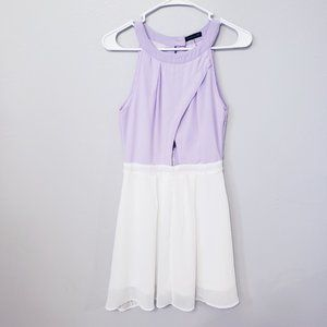 CALS Cut Out Lilac and White Dress